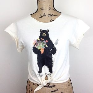Upcycled Hairy Potter Cropped  T Shirt